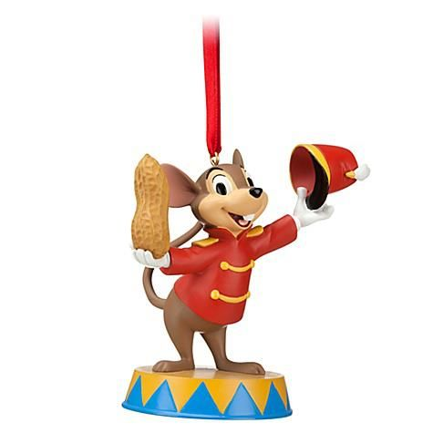 "To Timothy Mouse, the best holiday gift is a great big peanut! TIMOTHY MOUSE AND PEANUT ORNAMENT (from Walt Disney's ""Dumbo"")"