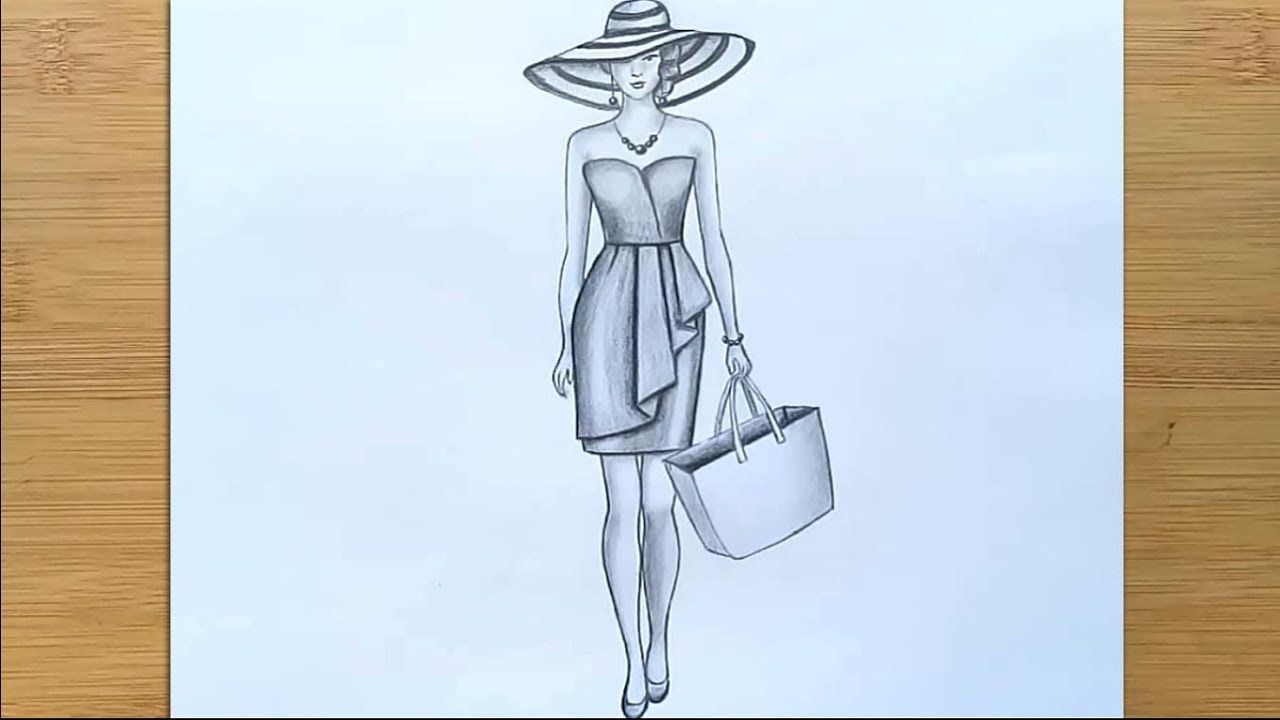 How To Draw A Girl Full Body With A Hat Step By Step