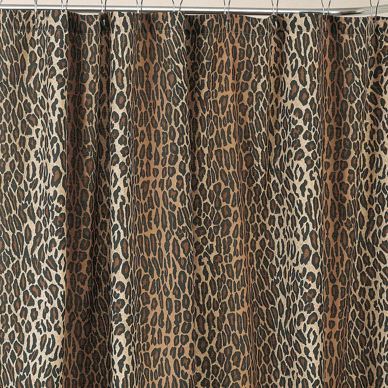 Leopard Shower Curtain Set Fabric Shower Curtains Printed