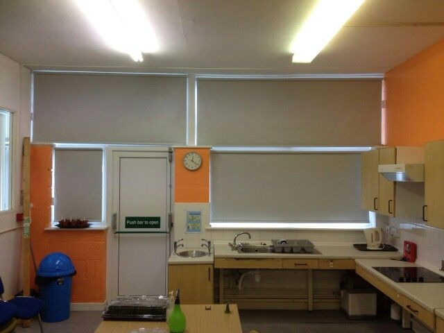 Blackout roller blinds donated to a local charity by Deva blinds.  Chester.  http://devablinds.co.uk