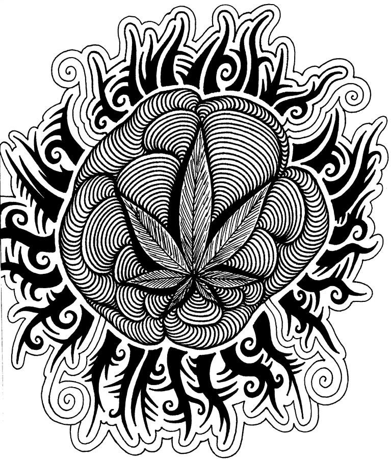 Trippy Coloring Pages | Sun Drawing   Sun Fine Art Print