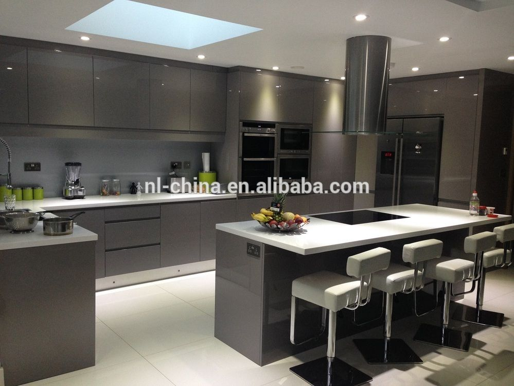 2015 handle free china made project high gloss lacquer for Cocinas contemporaneas 2015