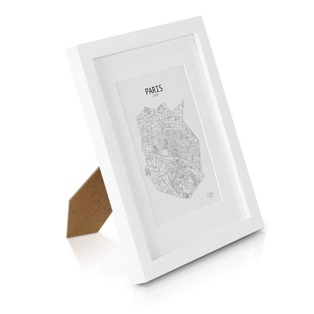 Solid Wood 10x8 Inch Photo Frame White 20x25 Centimetres Picture Frame With Mount For 5x7 Inch 13x18 Centi Photo Frame Mounts Picture Frames Ebern Designs