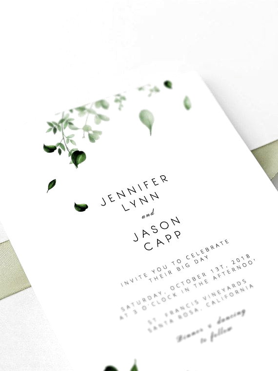 Photo of Greenery Wedding Invitation Set Template Eucalyptus Wreath