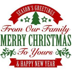 Silhouette Design Store View Design 110296 Merry Christmas Family Greeting Christmas Phrases Christmas Stencils Merry Christmas Family