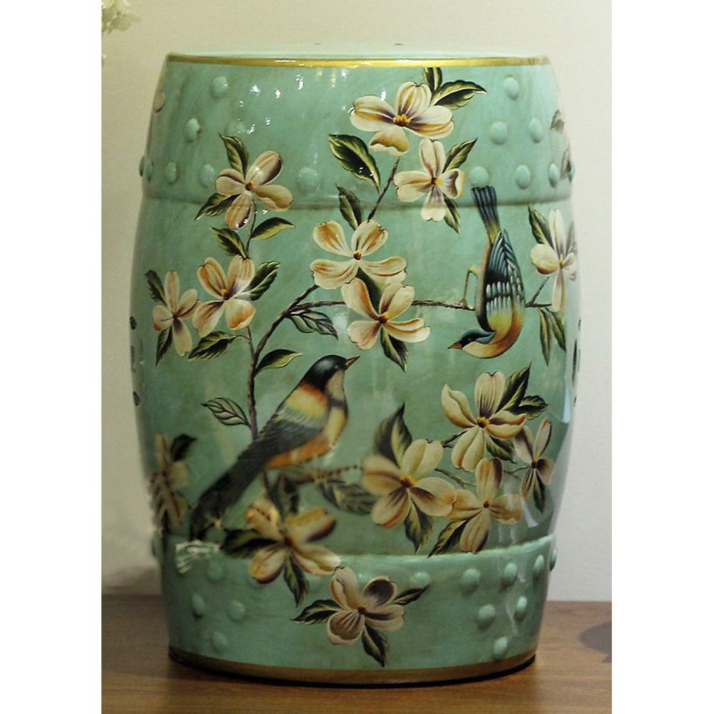Birds u0026 Flowers Porcelain Garden Stool  sc 1 st  Pinterest & Peach Blossom Painting Chinese ceramic garden Stool | Furniture ... islam-shia.org