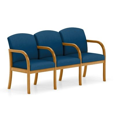 Beau Three Seat Vinyl Sofa With Center Arm. Waiting RoomsOffice ChairsArmsFabric  ...