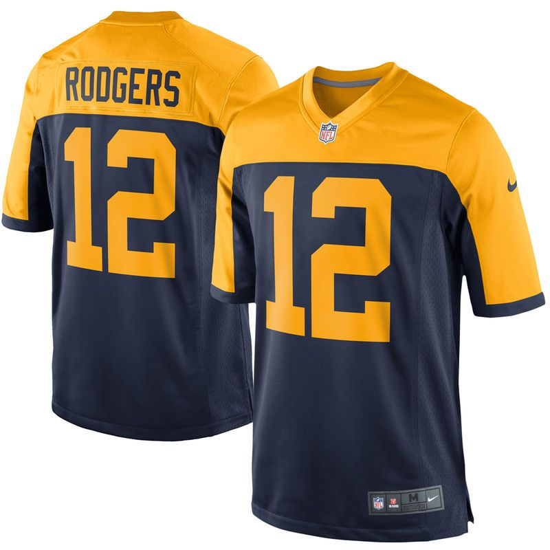 720195564 Aaron Rodgers Green Bay Packers Nike Youth Alternate Game Jersey - Navy Blue