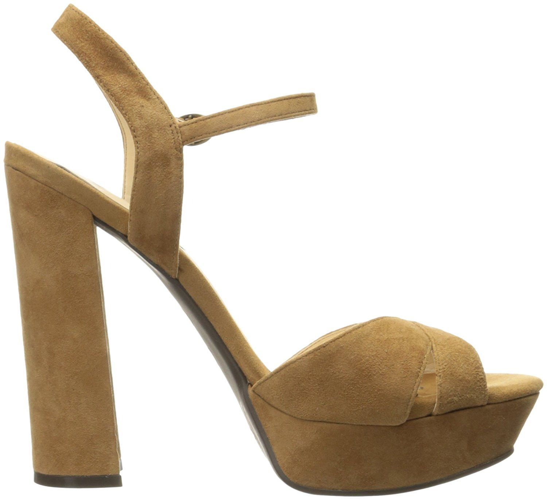 Jessica Simpson Women's Naidine Dress Sandal, Honey Brown, 7 M US