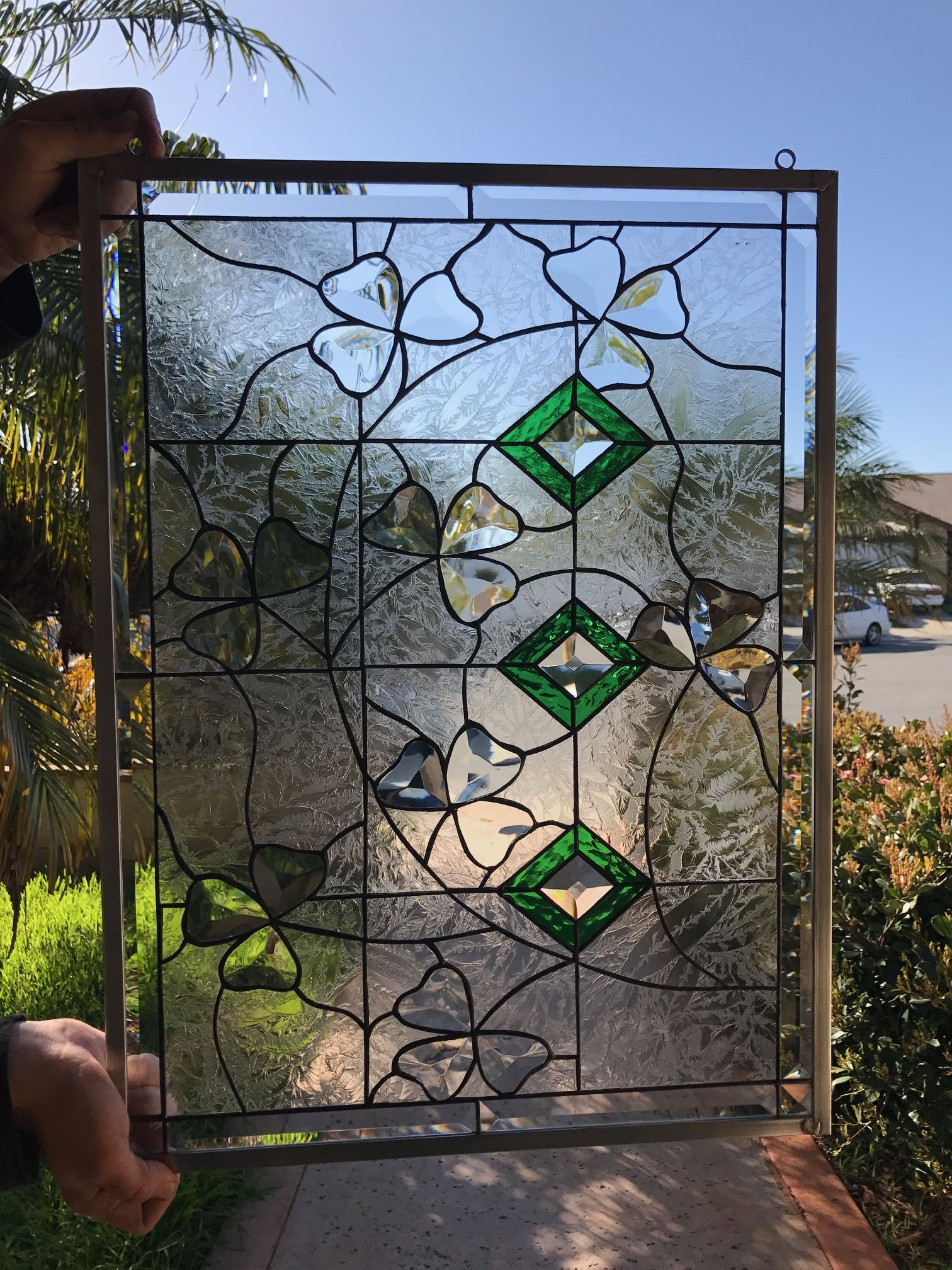 #home&living #homedecor #ornaments&accents #stained #glass #windows #panel #artglass #beveled #decorative #stain #leaded #stainedglasswindows