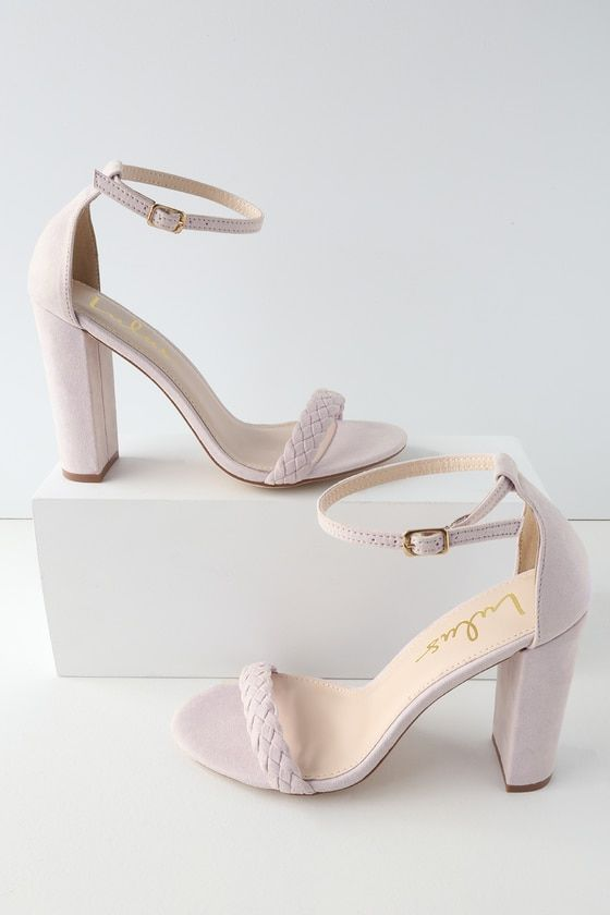 4e52e88e2b2 Taylor Braided Lilac Suede Ankle Strap Heels in 2019 | shoes | Ankle ...