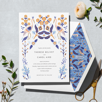 Heron Heralds Invitation Paperless Post Weddings Invitations