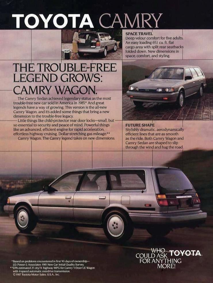 1987 Toyota Camry Wagon Ad Toyotavintagecars