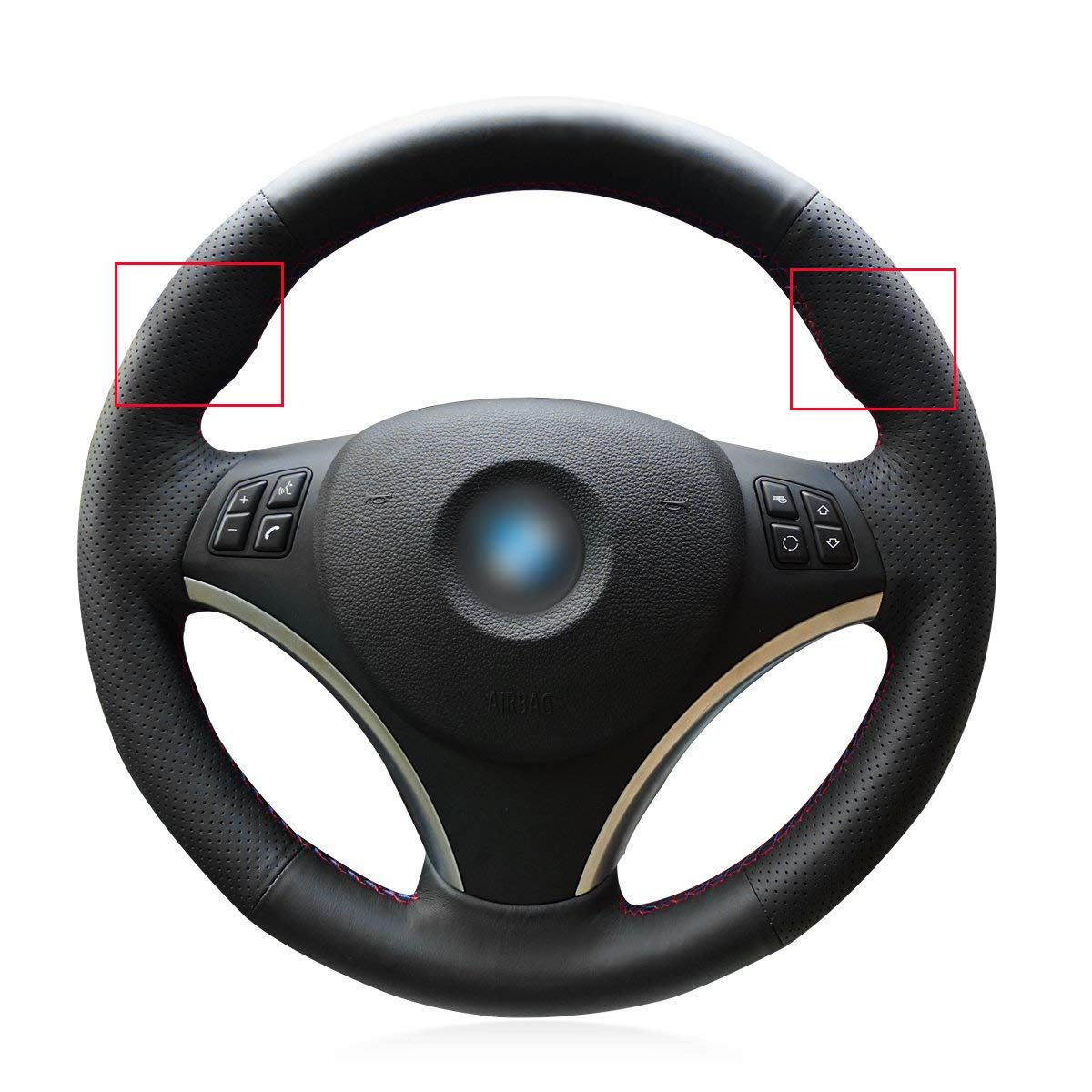 Black Genuine Leather Steering Wheel Cover For Bmw 128 I 135 I Bmw 325 I 328 I 328 Xi 328 Car Steering Wheel Cover Steering Wheel Custom Steering Wheel Cover