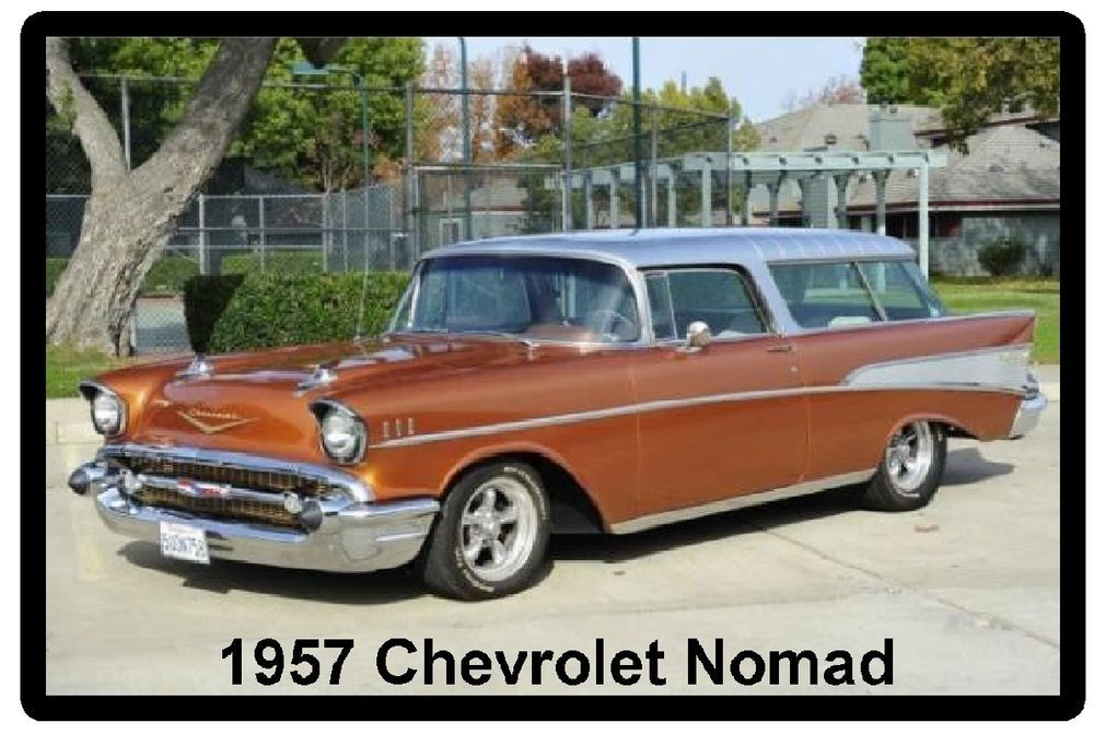 1957 Chevrolet Nomad Auto Refrigerator / Tool Box Magnet | Classic ...