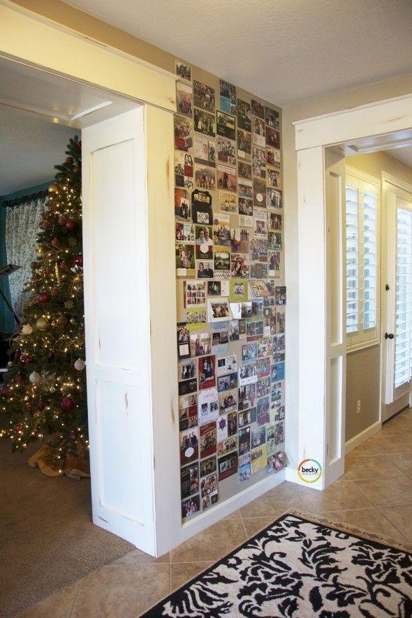 Wall o\' Christmas Cards.   Christmas // Card in 2018   Pinterest ...
