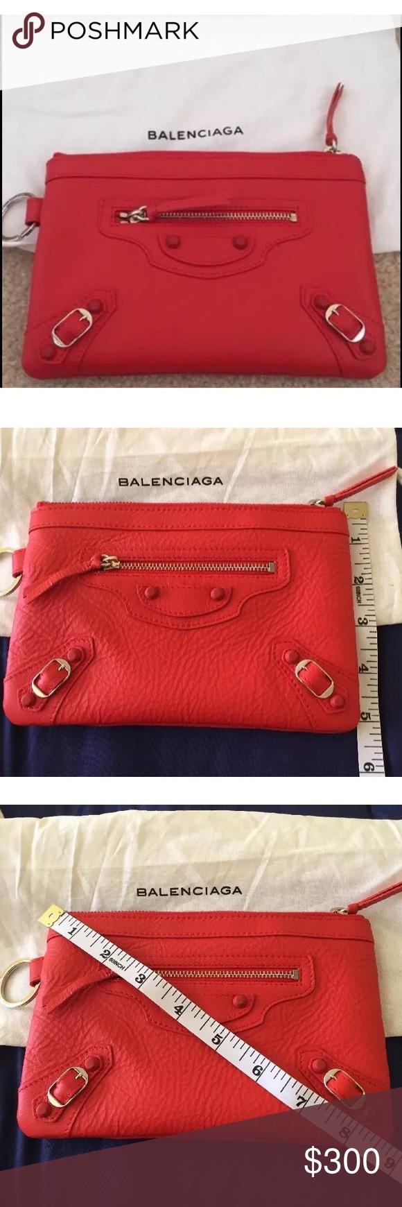 Nwt Red Balenciaga Pouch Red Wallet Balenciaga Bag Wallet Pouch