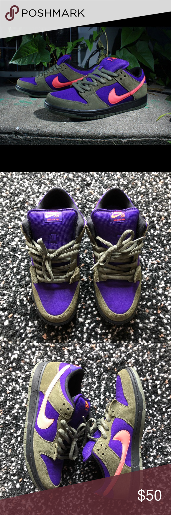 huge selection of befe1 f1c5a Nike Dunk SB ACG Gently worn without box Condition  9 10 This version of  the popular Nike SB Dunk Low has adjusted the bar utilizing this super  colorful ...