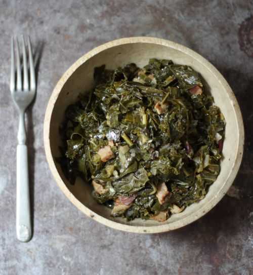 Sometimes you just have to braise greens. Why?Becausethis time of year they start stacking up in the fridge — kale, curly kale, sprin...