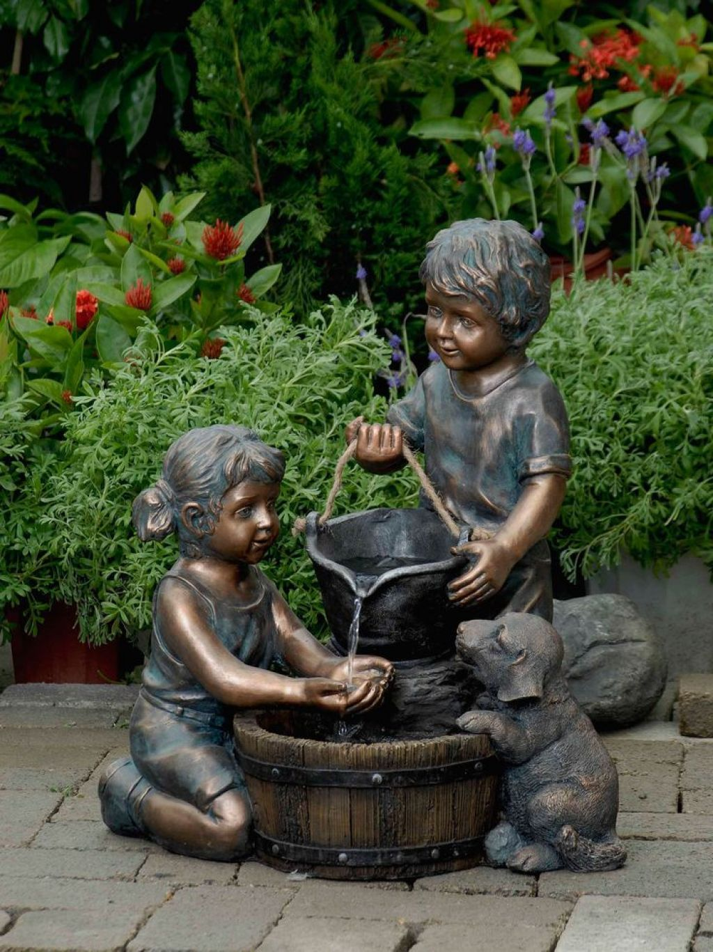Bon Metal Outdoor Children Statues : Decorating Your Garden With Children  Statues