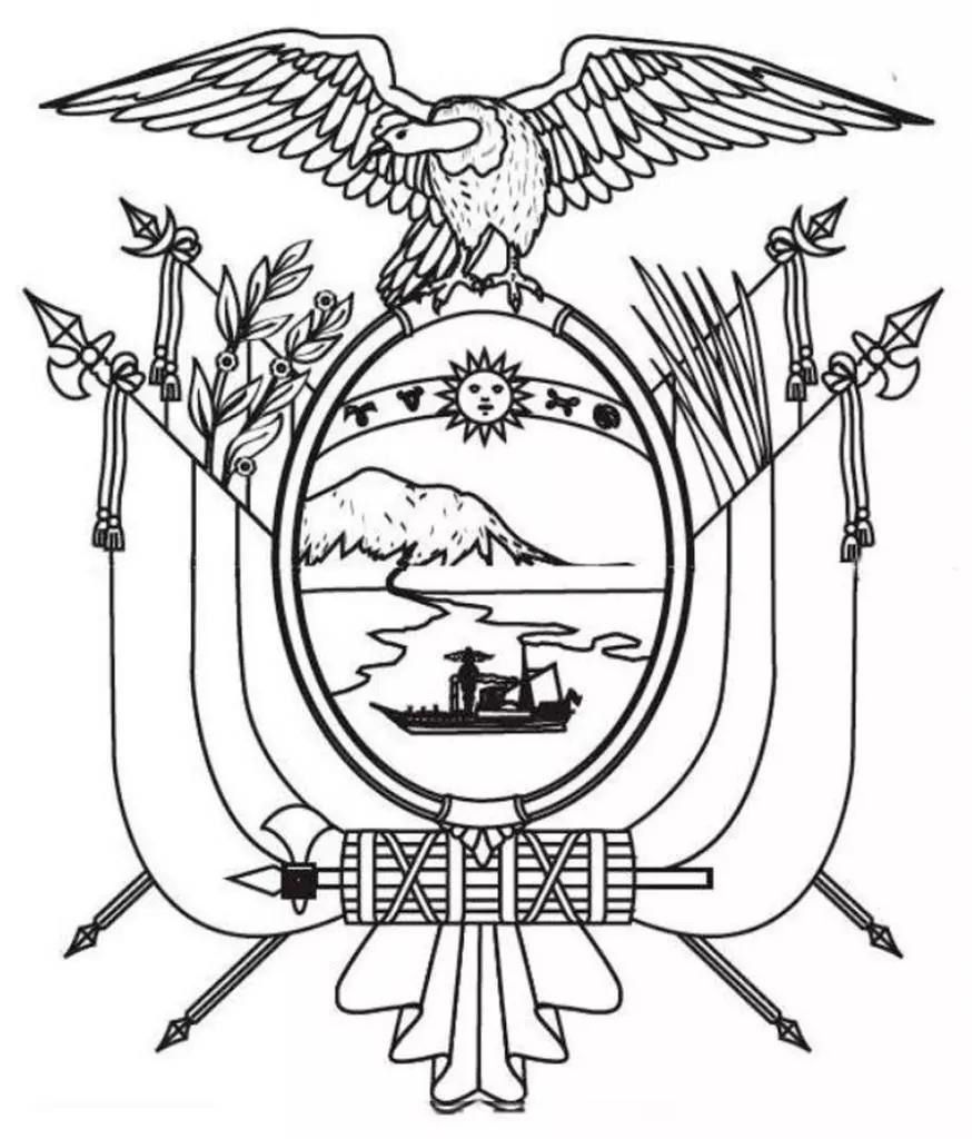 Escudo Del Ecuador Para Colorear Imagenes Para Imprimir Y Pintar Foros Ecuador 2019 Ecuador Peace Symbol Art