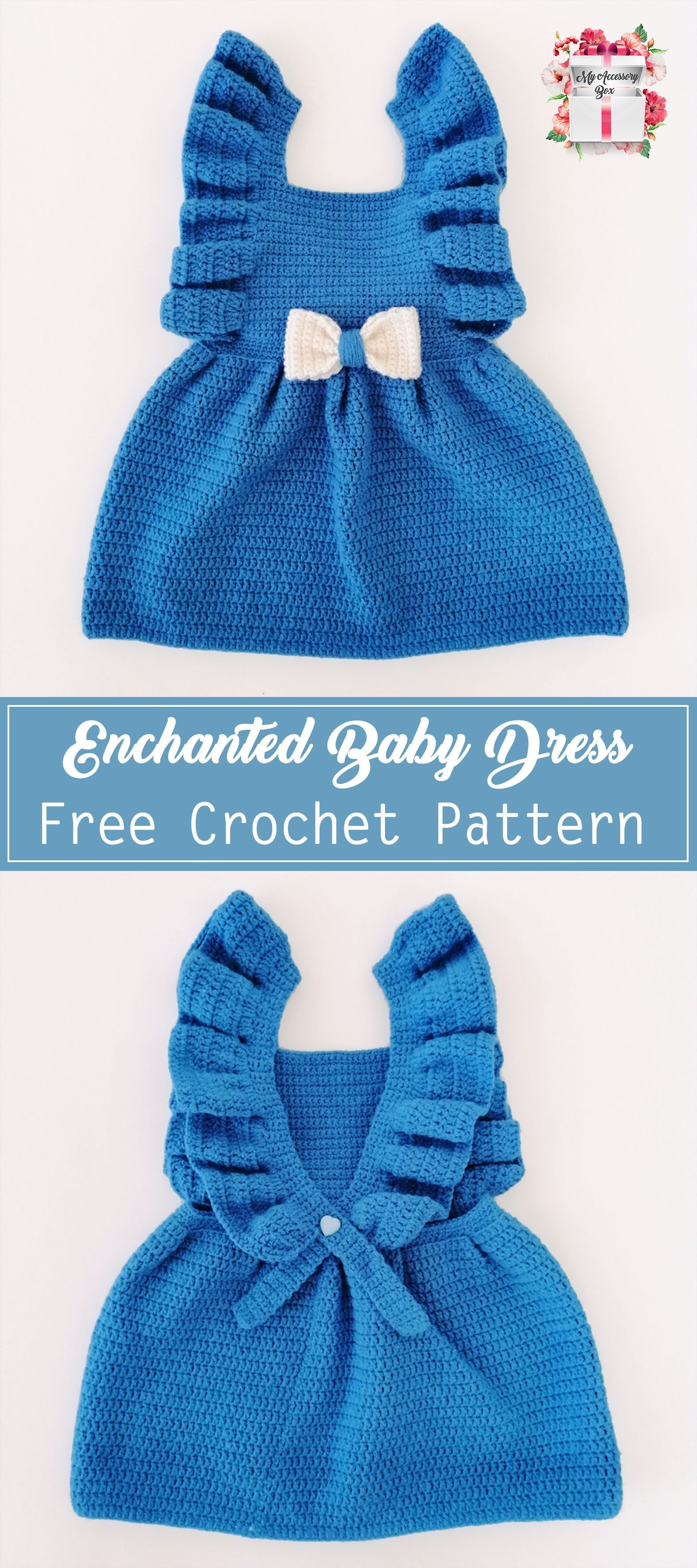 Photo of Enchanted Baby Girl Dress Crochet Pattern :  Free Crochet Pattern! #crochet #dre…