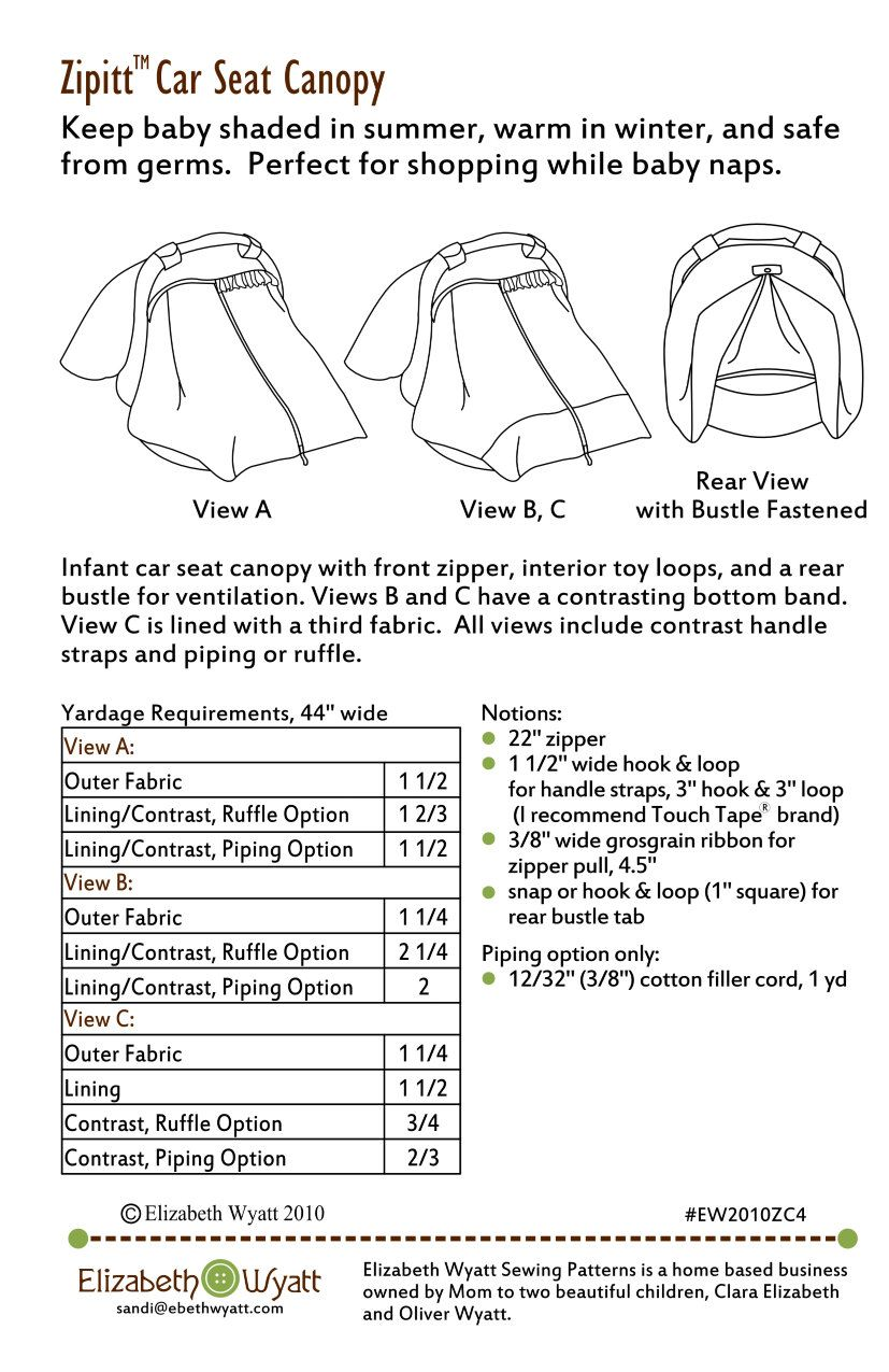 My Popular Zipitt Car Seat Canopy Pattern Is Now Available As A Digital Pdf Download This Patt Baby Car Seat Cover Pattern Car Seat Canopy Pattern Baby Sewing