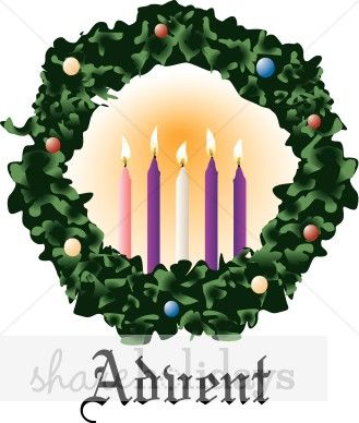 Advent Wreath Clip Art Pine Bough Clipart Christmas Wreath