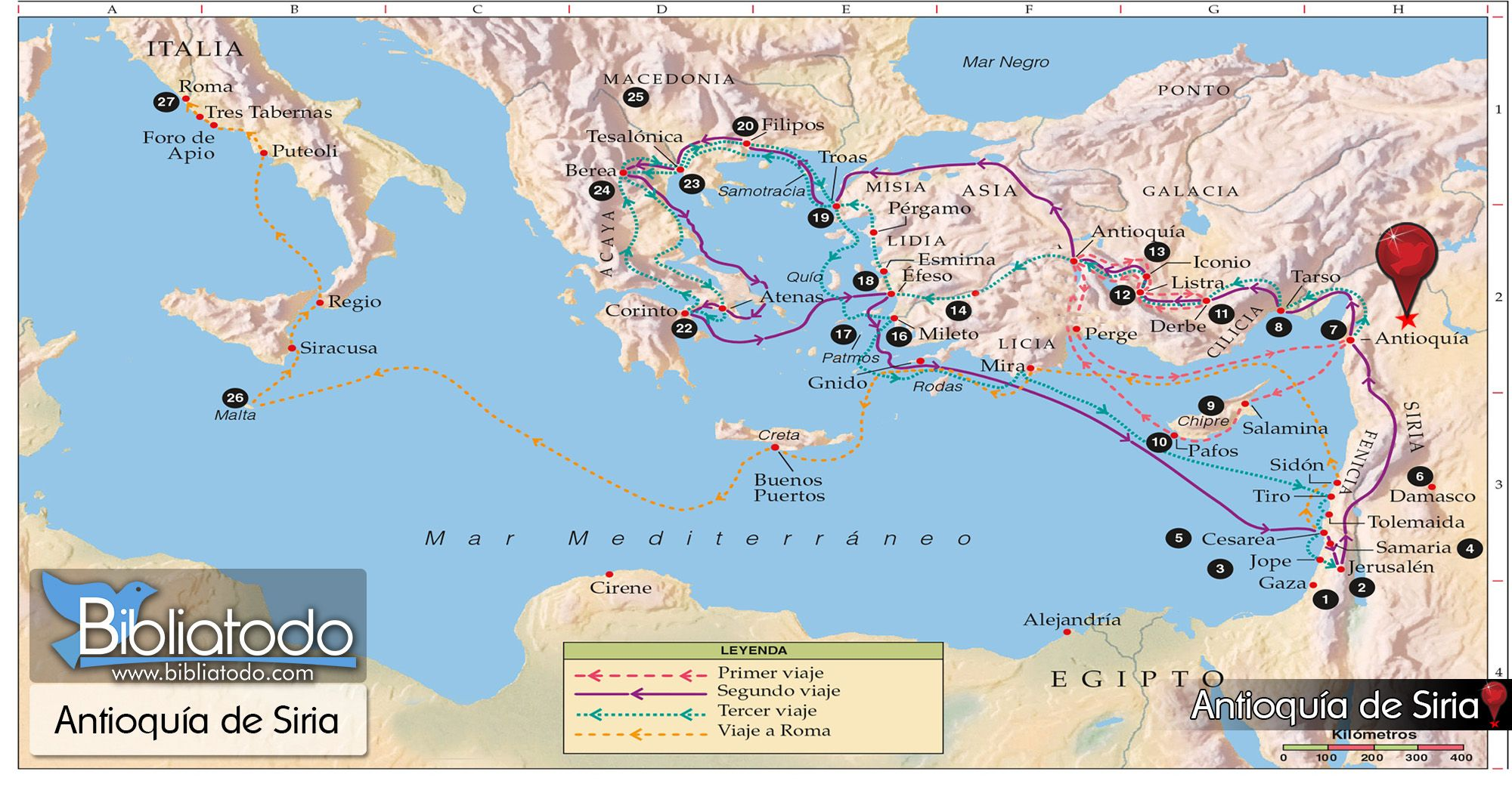 Cirene Mapa Google Search Paul S Missionary Journeys