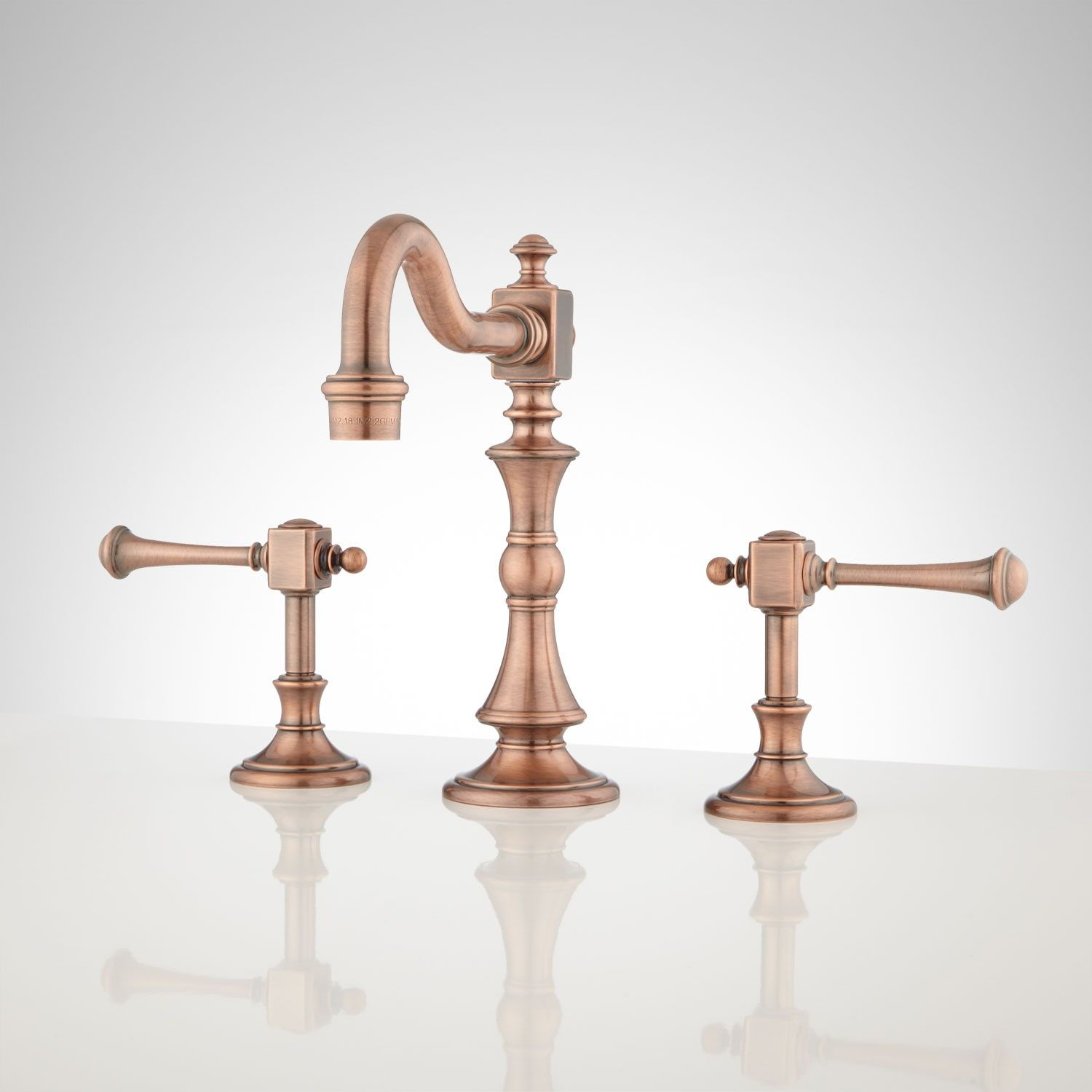 Vintage Widespread Bathroom Faucet - Lever Handles | Widespread ...