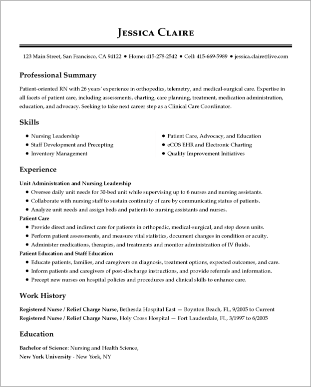 Perfect Resume Examples 2019