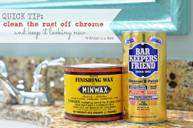 Simple Cleaning Trick How To Remove Rust From Chrome In The Bathroom How To Clean Rust How To Remove Rust Cleaning Hacks