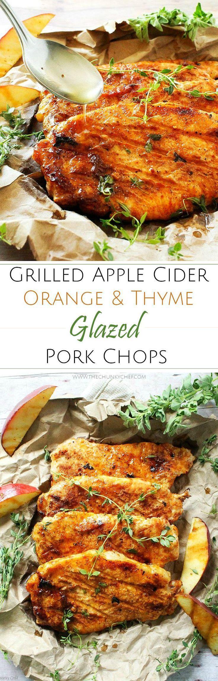 Apple Cider Orange and Thyme Grilled Pork Chops