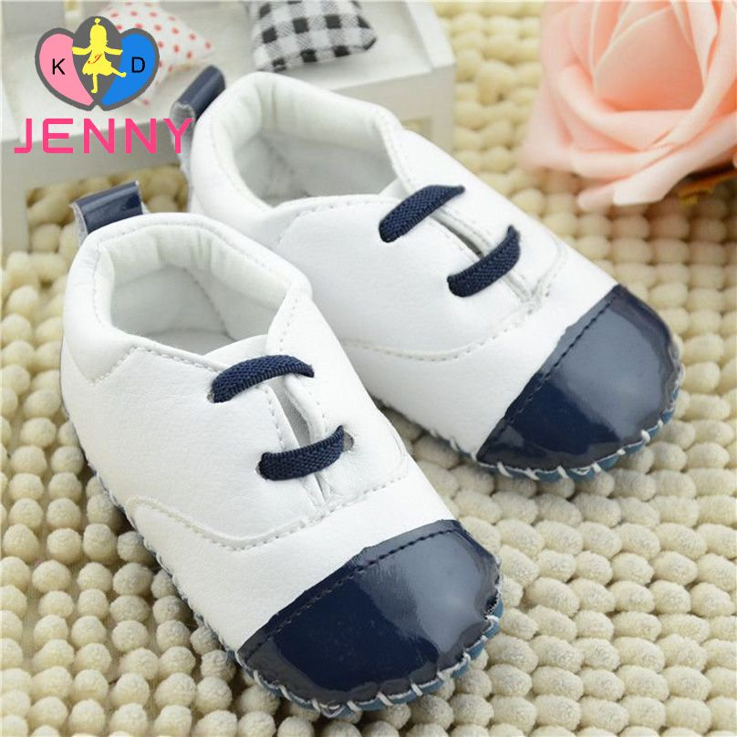 Baby   Pram New Born Toddler Boy Girl Star Crib Soft Soled Lace-Up Shoes Boots