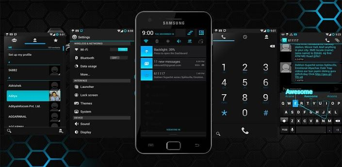 CM10 1/10 Theme MIUI Blue v1 0 2 apk Requirements: 2 3 and up