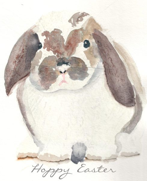 Watercolor Bunny Free Printable Bunny Art Art Drawings