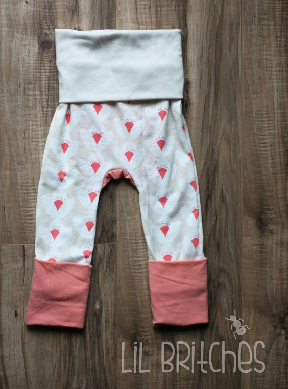 Miniloones in Lotus/Coral 3M-12M by LilBugBritches on Etsy