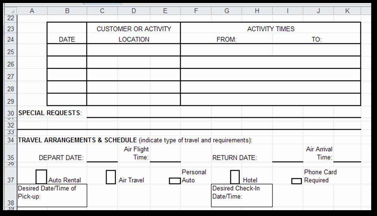 Travel Request Form Template In 2020 Words Templates