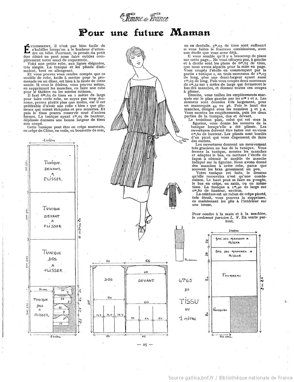La Femme de France 1924 maternity | 1920\'s Sewing Inspiration ...