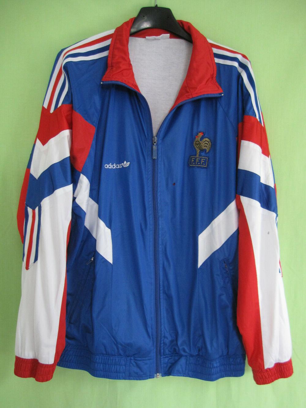 Veste Equipe France 1992 Adidas Vintage Jacket Homme