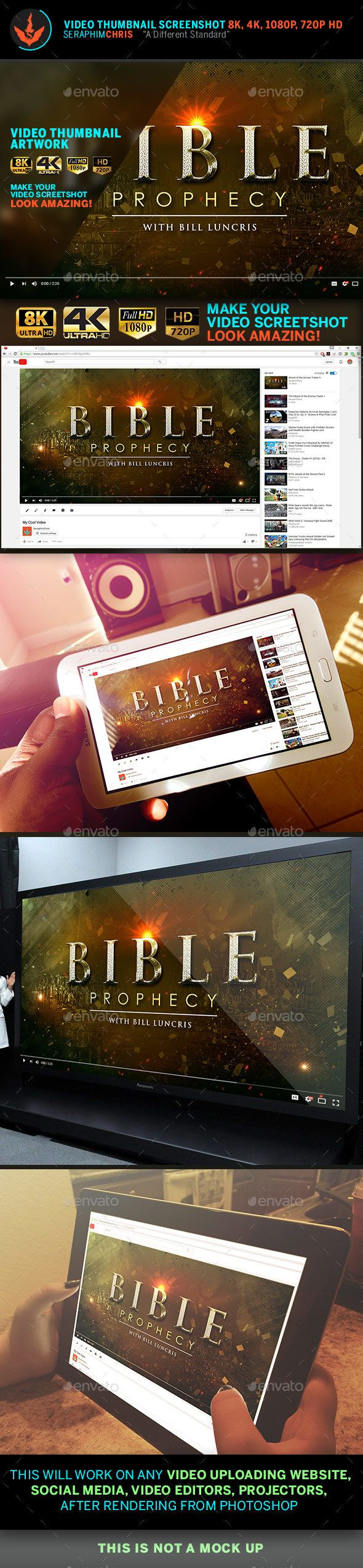 Bible Prophecy YouTube Video Thumbnail Screenshot Template ...