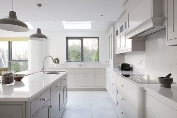Best Farrow And Ball Cornforth White Kitchen Modern Kitchen 640 x 480