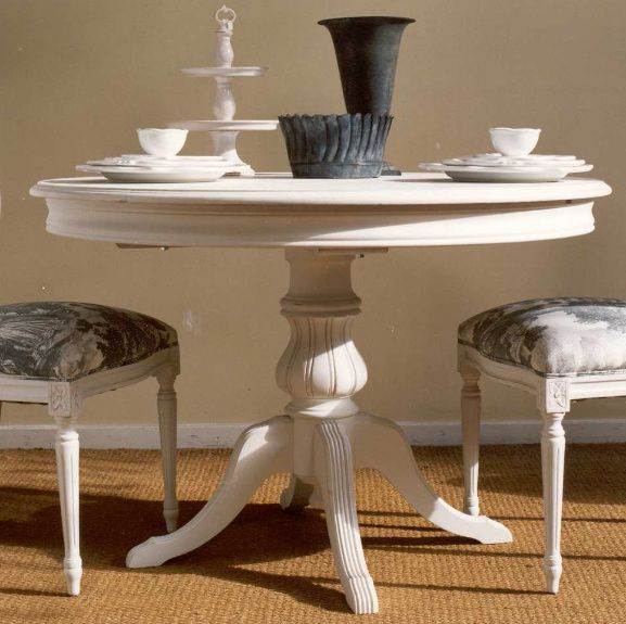 Mesa comedor peque a redonda l 39 atelier pinterest round tables wooden dining tables and - Mesa comedor pequena ...