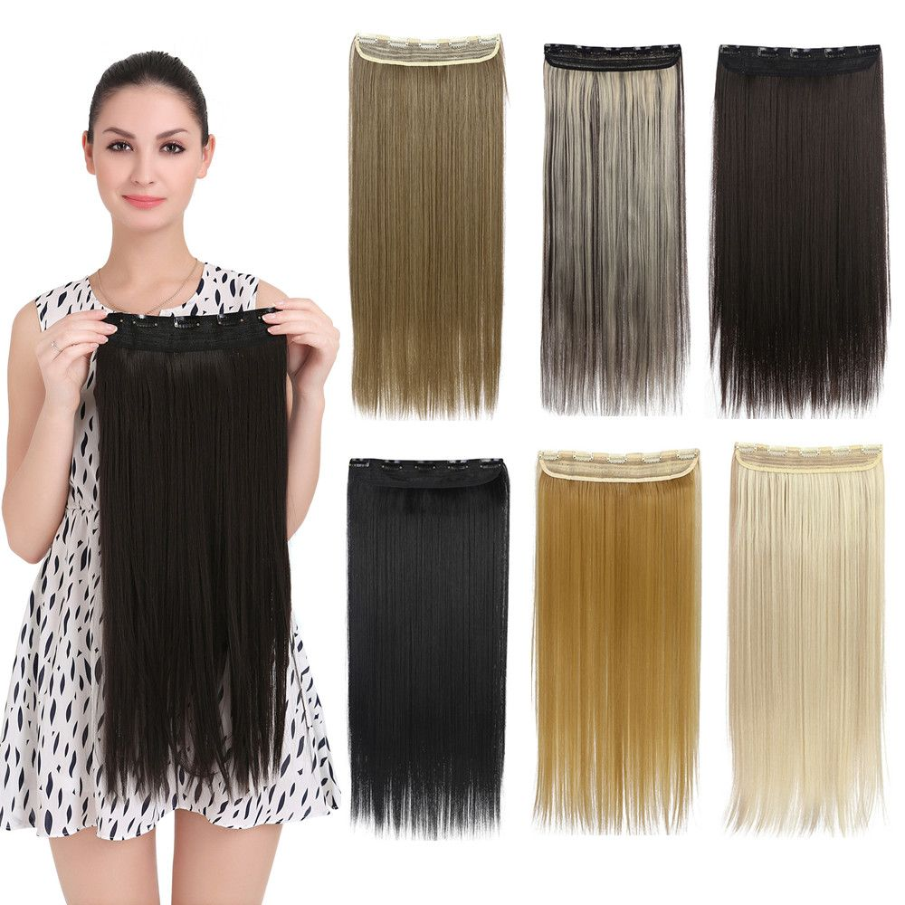 42 Colors Straight Clip In Hair Extensions Natural Long Women