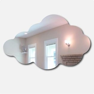 Cloud Mirror - For an unexpected and whimsical touch in any space, hang a cloud-shaped mirror. You won't be able to help but smile when you look at your reflection in this.