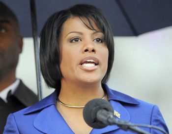 """Stephanie Rawlings-Blake, Mayor of Baltimore, Maryland. An impressive woman. Guested on MTP and held her own. """"We don't want to write checks that our you-know-what can't cash."""""""