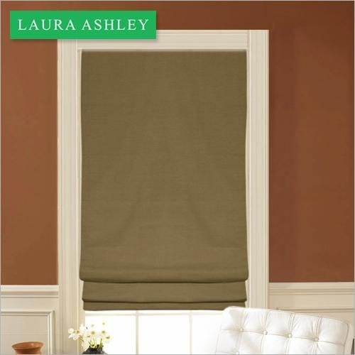 Laura Ashley Roman Shades In Northwind Sand.