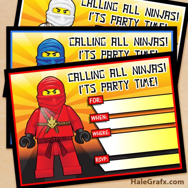 ninjago party invites 2 FREE Printable LEGO Ninjago Birthday