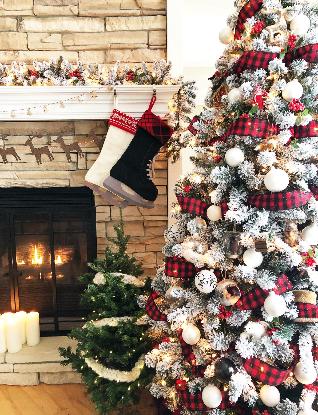 A Classic Canadian Christmas Home All Decked Out For The Holidays Christmas Tree Inspiration Plaid Christmas Tree Christmas Tree Themes