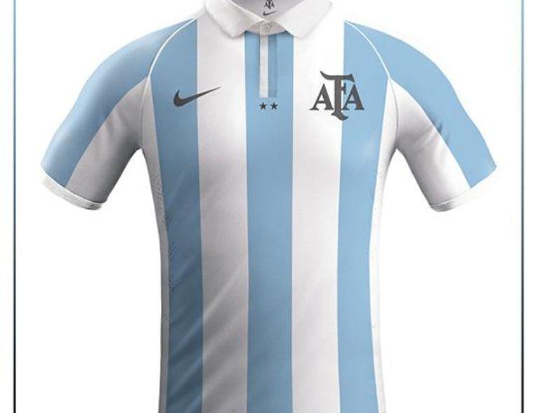 Diseñador Argentino Crea Versiones Para Camisas Selecciones Nike Camisetas Deportivas Remeras De Futbol Camisetas De Fútbol